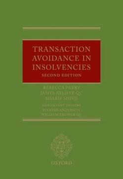 Transaction avoidance in insolvencies by Rebecca Parry