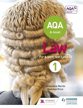 AQA A-level law for year 1/AS by Jacqueline Martin