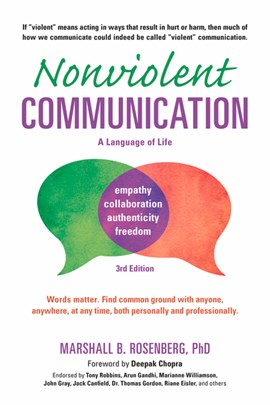 Nonviolent communication by Marshall B Rosenberg