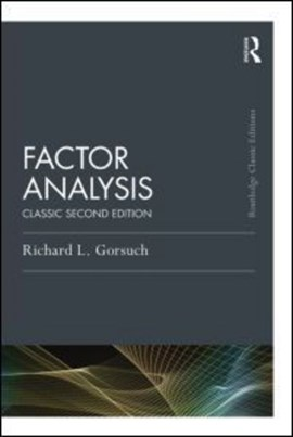Factor analysis by Richard L. Gorsuch
