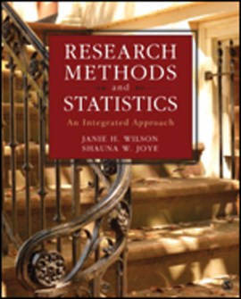 Research methods and statistics by Janie H. Wilson