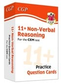 New 11+ CEM Non-Verbal Reasoning Practice Question Cards - Ages 10-11