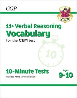 New 11+ CEM 10-Minute Tests: Verbal Reasoning Vocabulary - Ages 9-10 (with Online Edition) by CGP Books