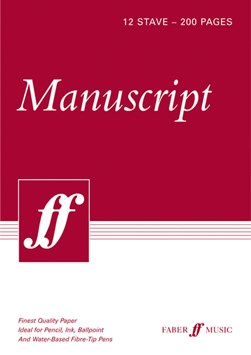 200-page A4 Manuscript Pad, 12-stave by