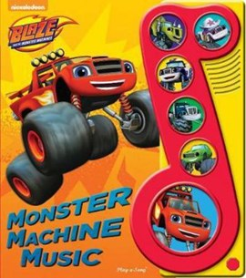 Blaze & The Monster Machines Little Music Note Book 6 Button by