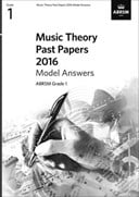 Music Theory Past Papers 2016 Model Answers, ABRSM Grade 1