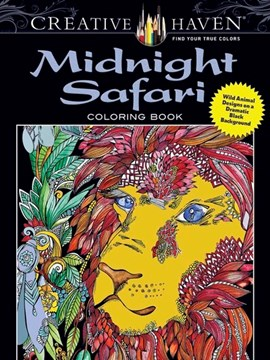 Creative Haven Midnight Safari Coloring Book by Lindsey Boylan