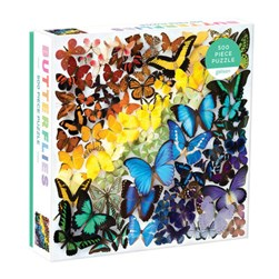 Rainbow Butterflies 500 Piece Puzzle by Galison