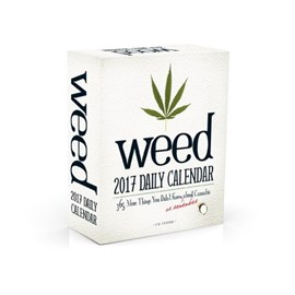 Weed 2017 daily calendar by I.M. Stoned