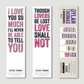 Dylan Thomas Bookmarks Pack 2