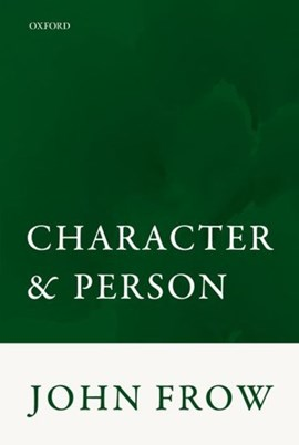 Character and person by John Frow