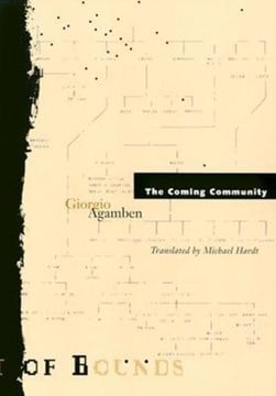 The coming community by Giorgio Agamben