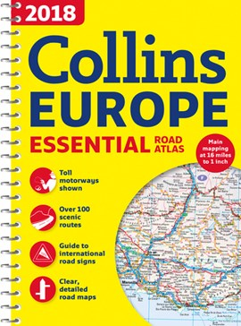 2018 Collins essential road atlas Europe by Collins Maps