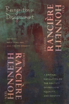 Recognition or disagreement by Axel Honneth