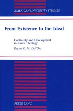 From existence to the ideal by Regina O.M Dell'Oro