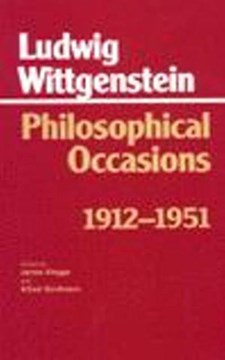 Philosophical occasions, 1912-1951 by Ludwig Wittgenstein