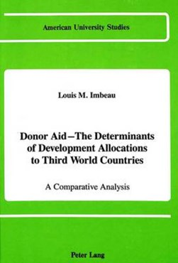Donor aid--the determinants of development allocations to Third-World countries by Louis M Imbeau