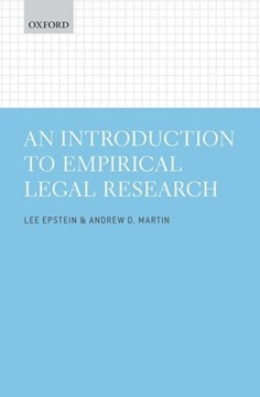 An introduction to empirical legal research by Lee Epstein