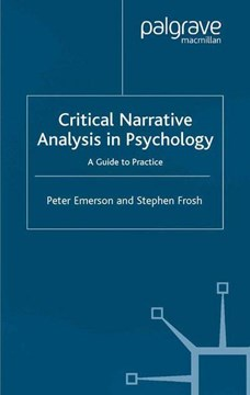 Critical narrative analysis in psychology by Peter Emerson