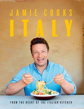 Book cover of Jamie Cooks Italy by Jamie Oliver