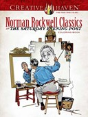 Creative Haven Norman Rockwell's Saturday Evening Post Classics Coloring Book
