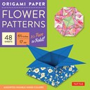 "Origami Paper - Flower Patterns - 6 3/4"" Size - 48 Sheets"