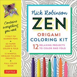 Zen Origami Coloring Kit by Nick Robinson