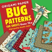 "Origami Paper Bug Patterns - 6"" (15 cm) - 100 Sheets"
