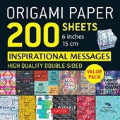 "Origami Paper 200 sheets Inspirational Messages 6"" (15 cm)"