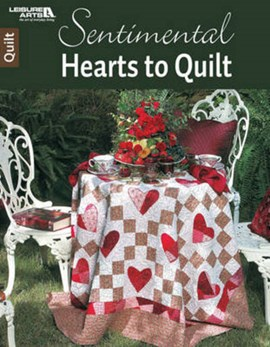 Sentimental hearts to quilt by Tricia Cribbs