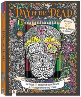 Day of the Dead Colouring Kit with 15 Pencils by