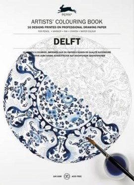 Colouring Book Delft Blue by Pepin Van Roojen