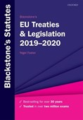 Blackstone's EU treaties & legislation 2019-2020