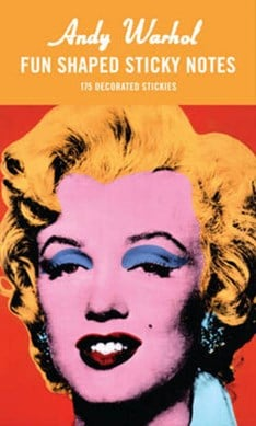 Andy Warhol Marilyn Shaped Sticky Notes by Galison