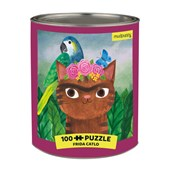 Frida Catlo Artsy Cats 100 Piece Puzzle Tin