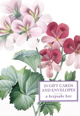 Tin Box of 20 Gift Cards and Envelopes: Redoute Geranium by