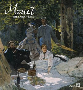 Monet/The Early Years 2018 Wall Calendar by