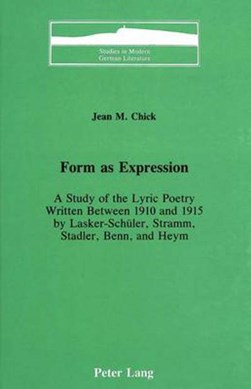 Form as expression by Jean M Chick
