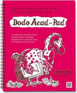 Dodo Acad-Pad Desk Diary 2015 - 2016 Week to View Academic Mid Year Diary by Naomi McBride