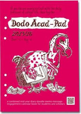 Dodo Acad-Pad Filofax-Compatible A5 Diary Refill 2015 - 2016 Week to View Academic Mid Year Diary by Naomi McBride