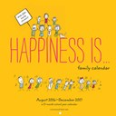 2017-2018 Family Wall Calendar: Happiness Is