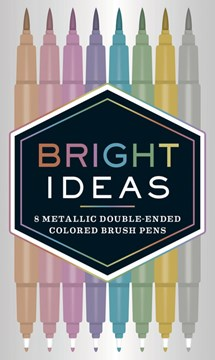 Metallic Double-Ended Colored Brush Pens by Nicola Ries Taggart
