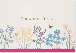 Sparkly Garden Thank You 14pk by Peter Pauper Press