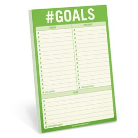 Knock Knock #Goals Pad by Knock Knock