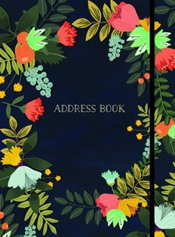 Address Book - Modern Floral Large by Mia Charro