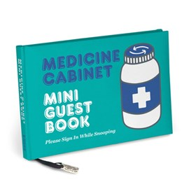 Knock Knock Medicine Cabinet Mini Guest Book by Knock Knock