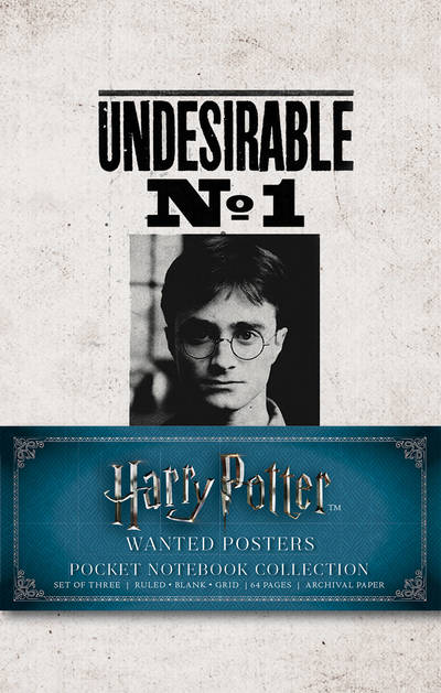 harry potter wanted posters pocket journal collection set of 3