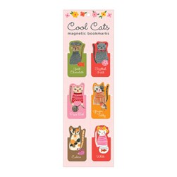 Cool Cats Magnetic Bookmarks by Galison