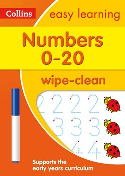 Numbers 0-20 Age 3-5 Wipe Clean Activity Book by Collins Easy Learning