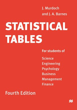 Statistical tables by J.A. Barnes
